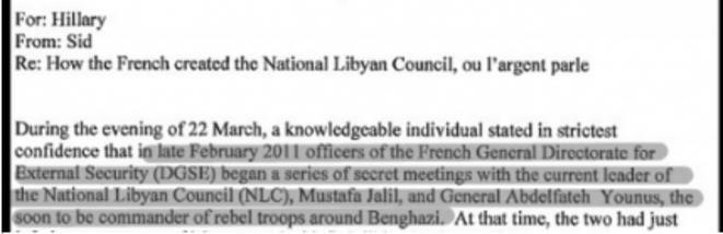«Comment les Français ont créé le Conseil national de transition», mail du 22 mars 2011 © DR