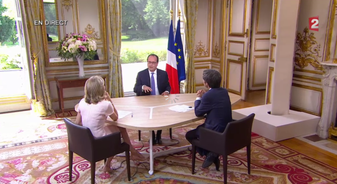 François Hollande lors de la traditionnelle interview du 14 juillet