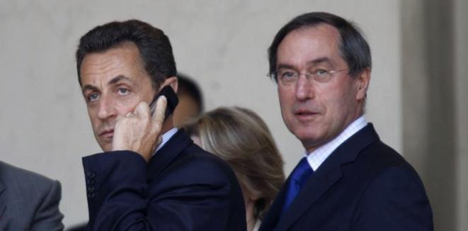 Nicolas Sarkozy et Claude Guéant, son secrétaire général de l'Élysée, en 2008