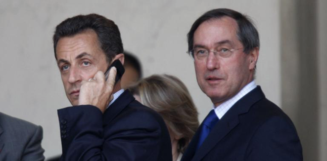 Nicolas Sarkozy et Claude Guéant, son secrétaire général de l'Élysée, en 2008 © Reuters