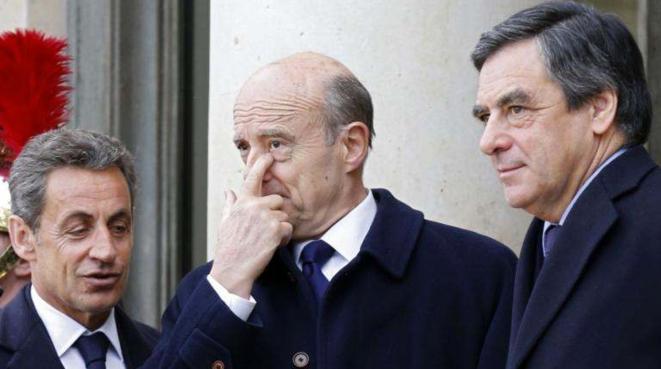 Nicolas Sarkozy, Alain Juppé et François Fillon le 11 février