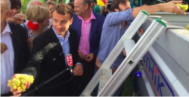 Emmanuel Macron à Léognan, le 27 août 2015