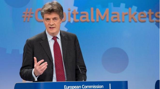 Le commissaire Jonathan Hill, le 18 février 2015 à Bruxelles