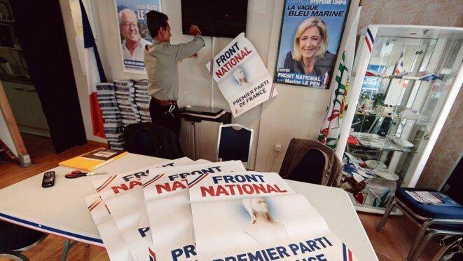 Dans une permanence du FN à Nice