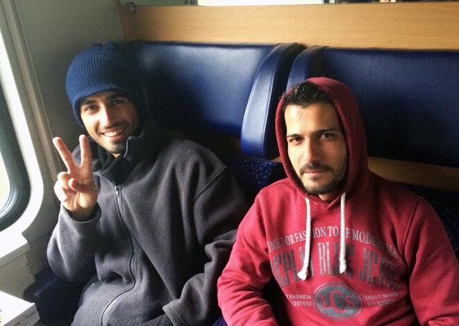 Feteyan et Hani à l'arrivée à Düsseldorf © CG