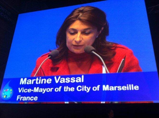 Martine Vassal lors du Forum mondial de l'eau