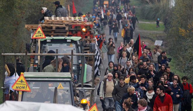 Ce samedi à Notre-Dame-des-Landes © Reuters