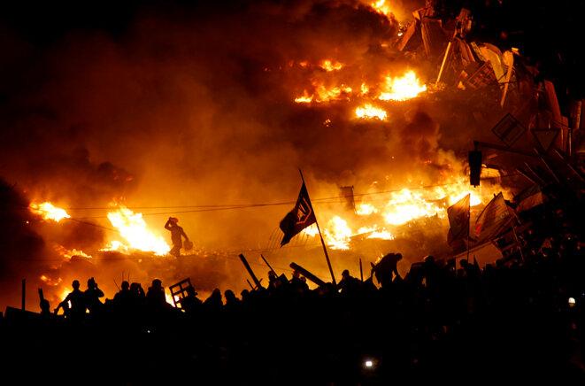 A Kiev dans la nuit de mercredi à jeudi © Reuters