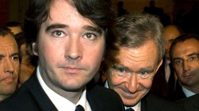 Antoine Arnault et son père, Bernard © Reuters