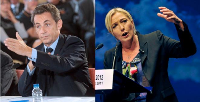 Nicolas Sarkozy et Marine Le Pen © Reuters