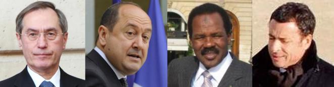 Claude Guéant, Bernard Squarcini, Bachir Saleh et Alexandre Djouhri