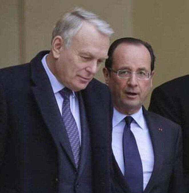 Jean-Marc Ayrault et François Hollande © Reuters