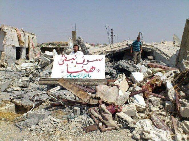 """""""Nous resterons ici"""". A Dael, région de Deraa"""