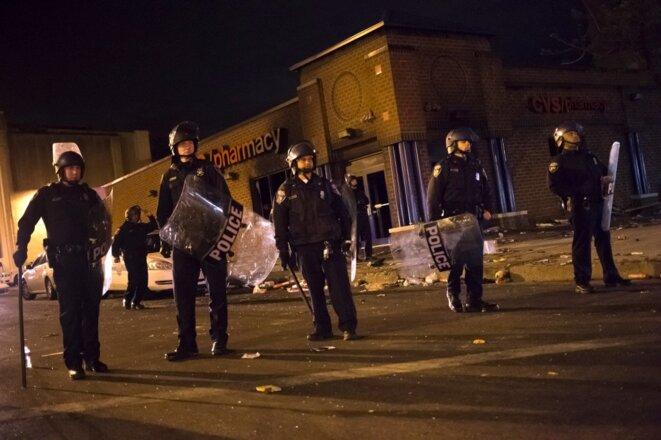 La police déployée à Baltimore