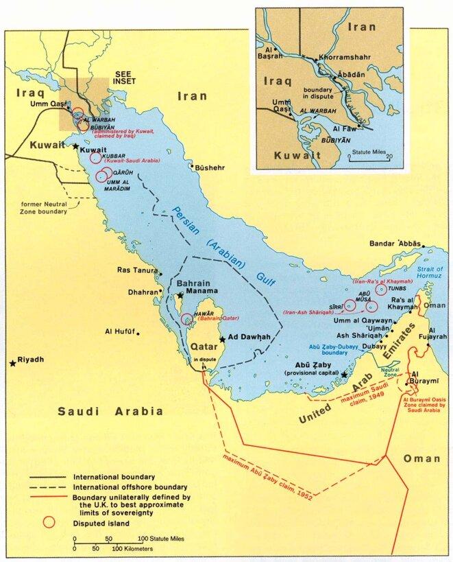 Le Qatar et ses voisins