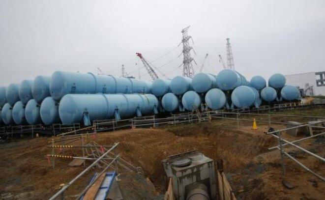 Les réservoirs installés par Tepco à Fukushima