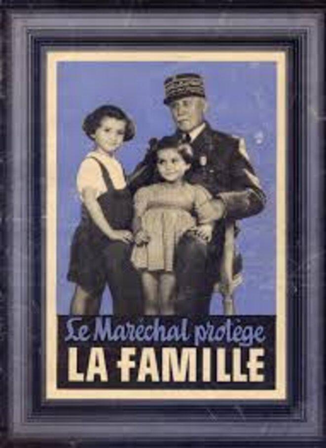 pétain et deux petites filles © propag