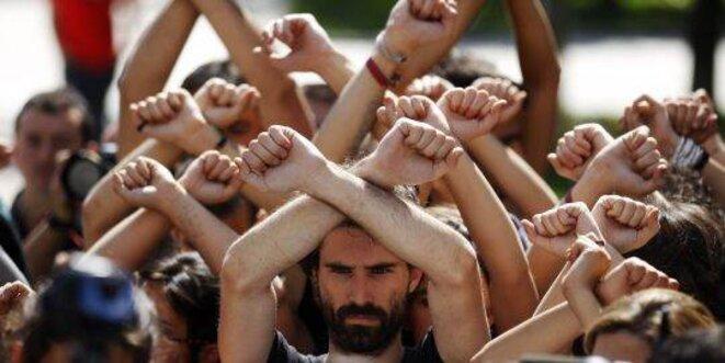 Indignés à Barcelone © Andrea Coma / Reuters