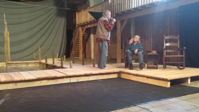 Pipes d'écume (répétition de l'Épreuve du merveilleux, de Michel Garneau, au Théâtre du Jour d'Agen)) © JJMU