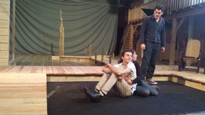 répétition au Théâtre du Jour d'Agen : Charly Dô, Camille Benicel, Olivier Dumas  © JJMU