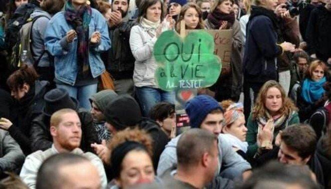 Manifestants lycéens contre les violences policières à Toulouse, le 8 novembre 2014 © AFP - Remi Gabalda