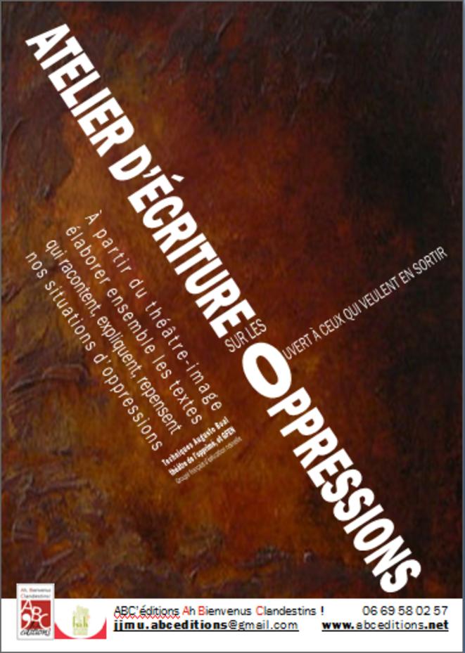 Ateliers d'écriture sur les oppressions © ABC'éditions Ah Bienvenus Clandestins !
