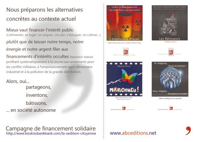 Séditions citoyennes carte postale © ABC'éditions Ah Bienvenus Clandestins !