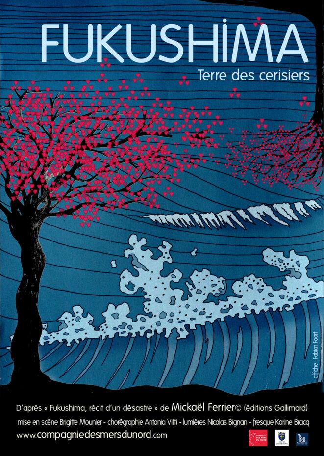 Fukuchima, terre des Cerisiers : l'affiche du spectacle © Compagnie des Mers du Sud