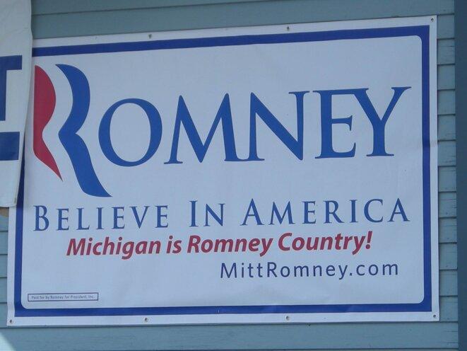 Affiche de Campagne Romney MI