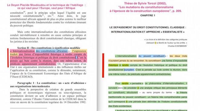 Placide Moudoudou et la technique de l'habillage : ce qui vaut pour l'Europe, vaut pour l'Afrique.