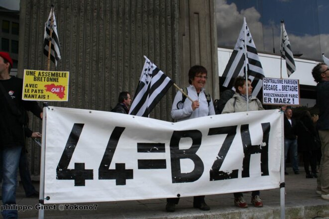 Manifestation à Nantes pour la réunification de la Bretagne © Philippe Ginet @Yokono7
