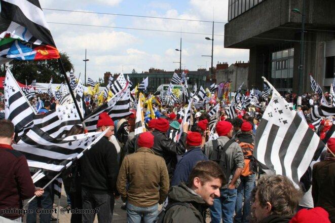 Reunification de la Bretagne 19 avril 2014 à Nantes © Philippe Ginet @Yokono7