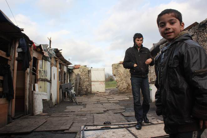 Le secteur dit des Murs à pêches à Montreuil (93) abrite des Roms originaires de Roumanie. © E. Berthaud.