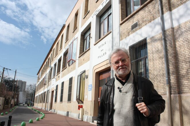 Marc Douaire fut élève puis instituteur et directeur au groupe scolaire Voltaire à Nanterre. © E.B