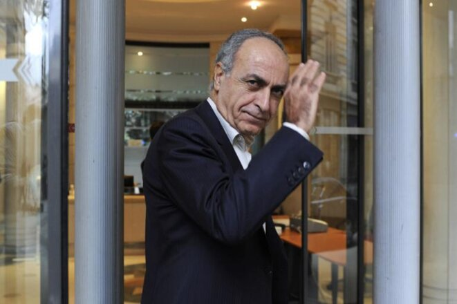 Ziad Takieddine entrant au pôle financier du Palais de justice