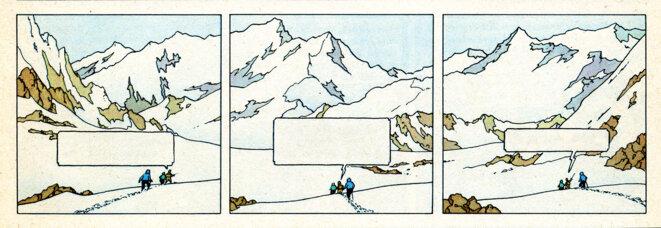 (Tinitin au Tibet, extrait) © Hergé
