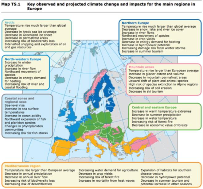 Effets des dérèglements climatiques en Europe © Agence Européenne de l'environnement
