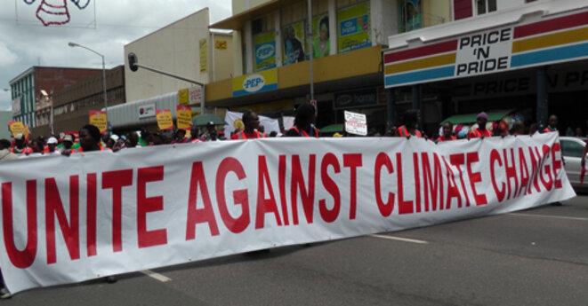 Manifestation à Durban lors de la 17