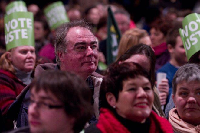 Meeting EELV à Roubaix; le 11/02/12. © Thomas Haley