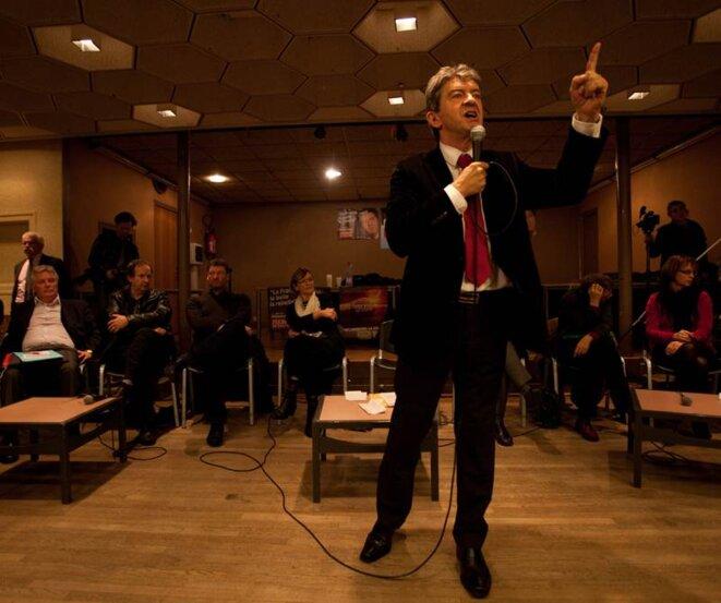 Jean-Luc Mélenchon lors de réunion public à Montataire; le 18/11/11. © Thomas Haley