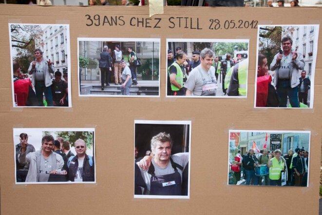 José Montero, délégué syndical CGT et ouvrier chez Still, décédé le 15/11/11.  © Thomas Haley