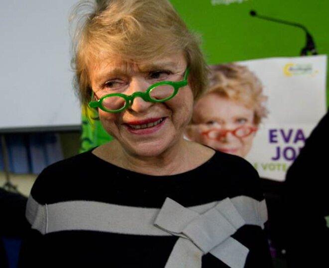 Eva Joly, candidate EELV, à Caen; le 3/02/12. © Thomas Haley