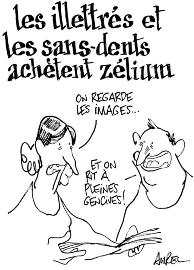 Les sans-dents et les illettrés lisent la presse satirique. © Aurel