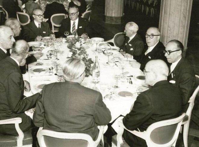 Dîner patronal à l'Automobile club, en 1955...