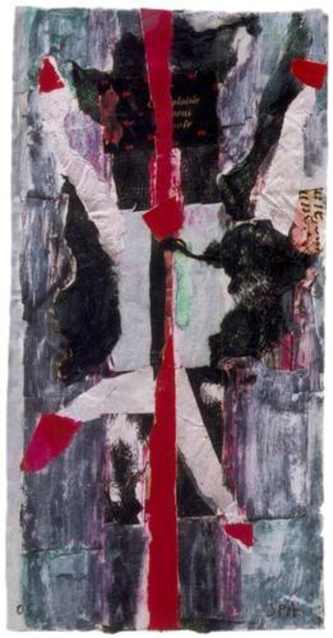 La rupture, collage et huile 2005, jpanselme.com