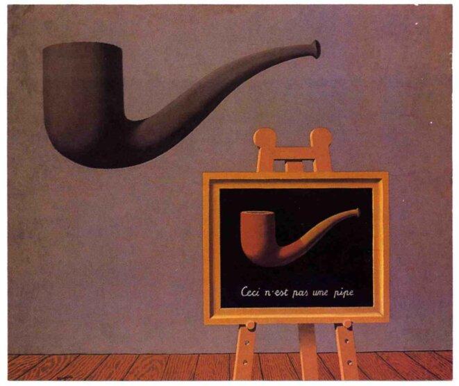 «Les deux mystères», René Magritte.