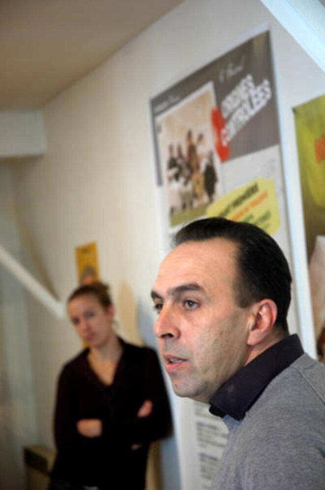 Salah Amokrane des Motivé-e-s, à Toulouse en 2001, durant les municipales.