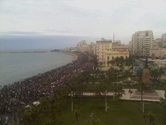 « Vendredi du départ » à Alexandrie, janvier 2011.