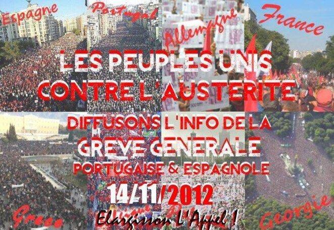 Affiche pour le 14 novembre, sur facebook.