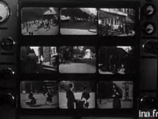 Mur d'écrans de surveillance... en 1947.